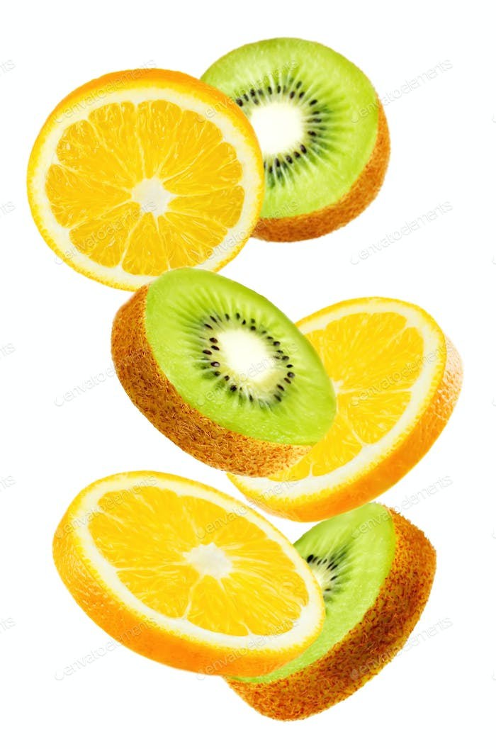 Flying Oranges with kiwi