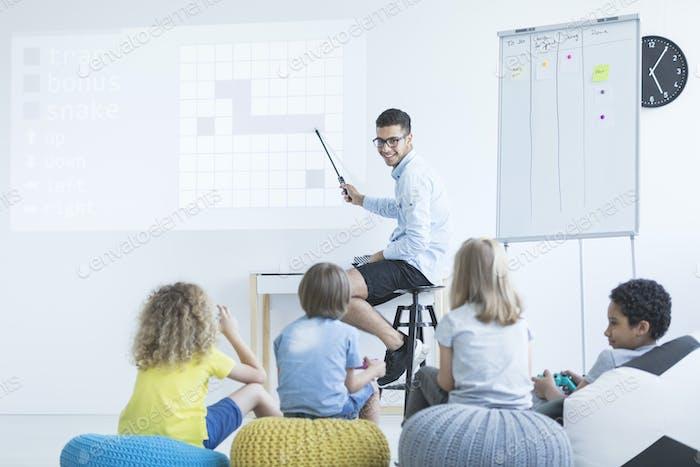 Kids in modern school