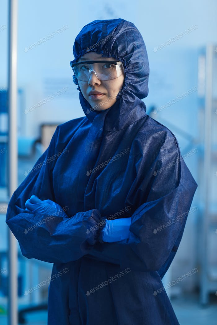 Asian doctor in protective workwear