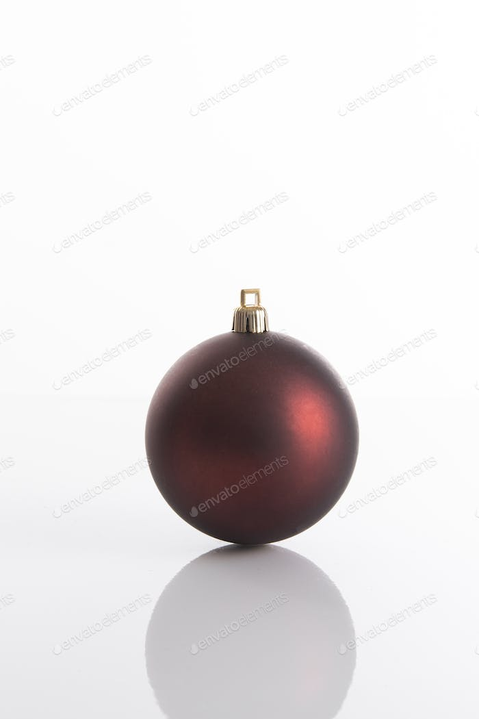 Red matte Christmas ball for Christmas tree decoration