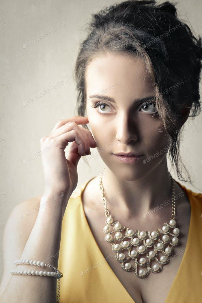 Portrait of an elegant woman