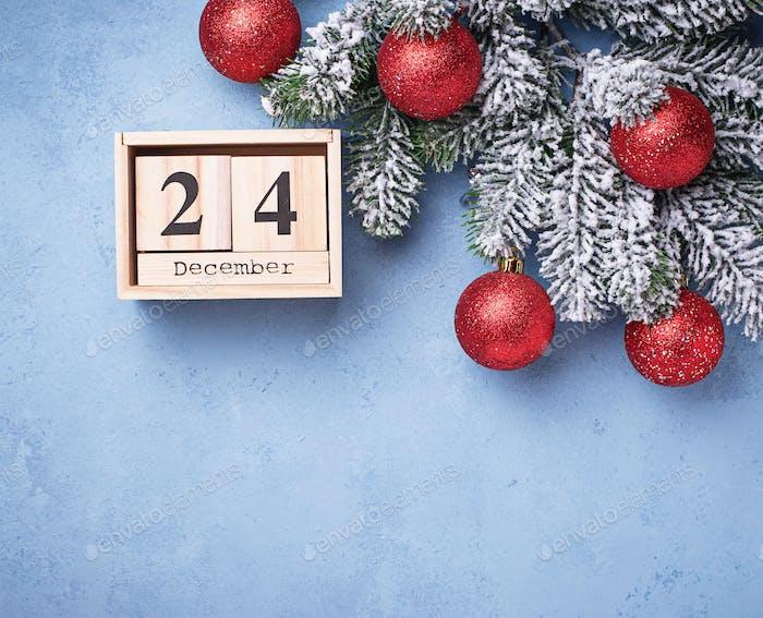 24. Dezember auf Holzkalender