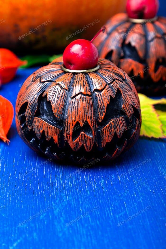 Leuchtende Halloween Kürbisköpfe Jack o Laterne
