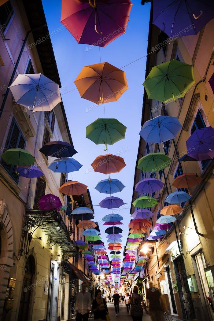 Umbrellas of different colors