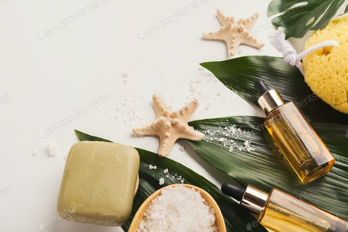 Natural cosmetics for home or salon spa treatment
