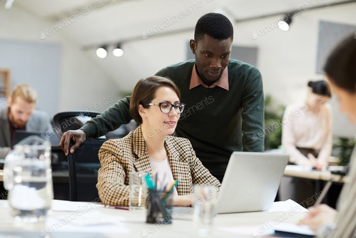 Female Business Manager Working in Office
