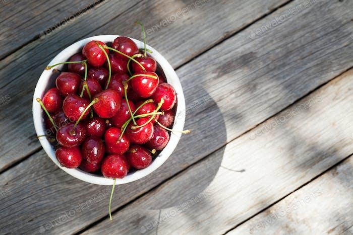 Fresh summer berries. Cherry