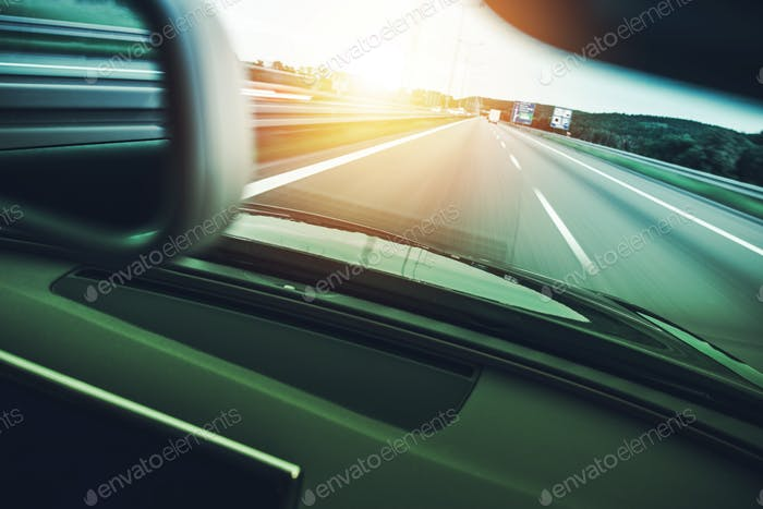 Highway Car Speeding