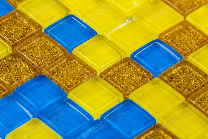 Colorful mosaic of glass, background