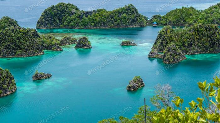 Painemo Island, Blue Lagoon, Raja Ampat, West Papua, Indonesia