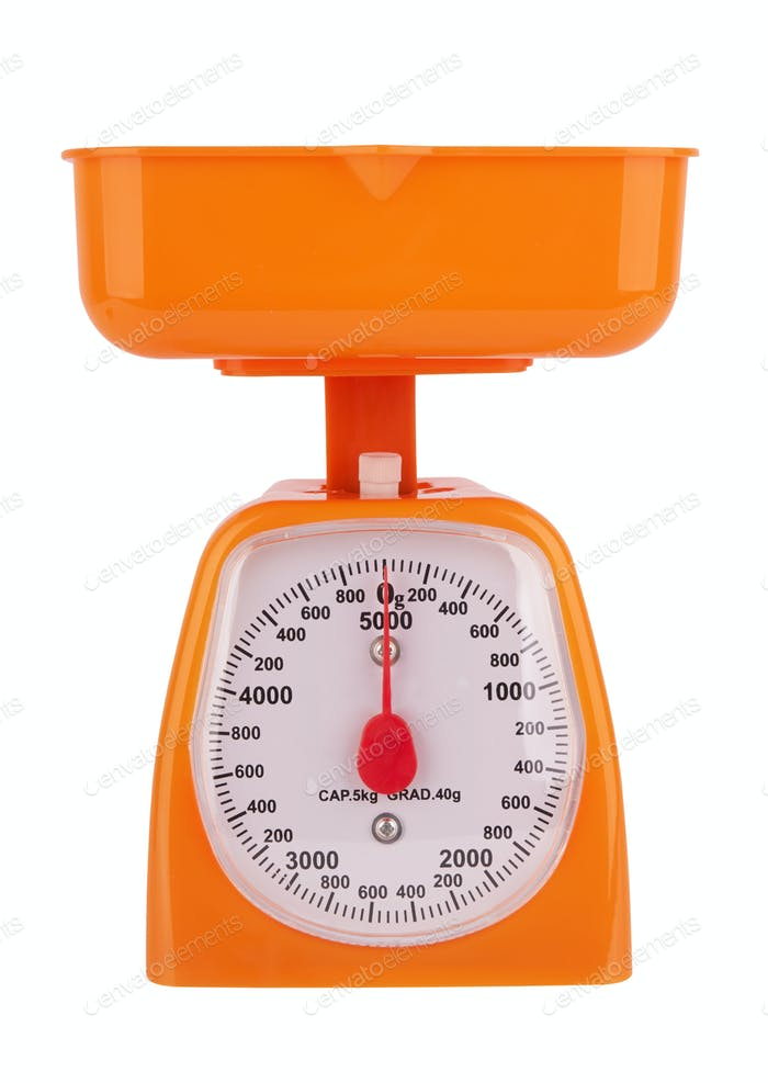 Portable mechanical scale isolated on a white background