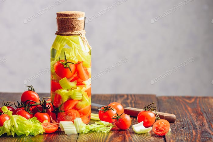 Cleansing Water with Vegetables.