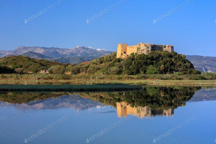 Castle of Grivas (Kastro Griva) in Lefkada, Greece