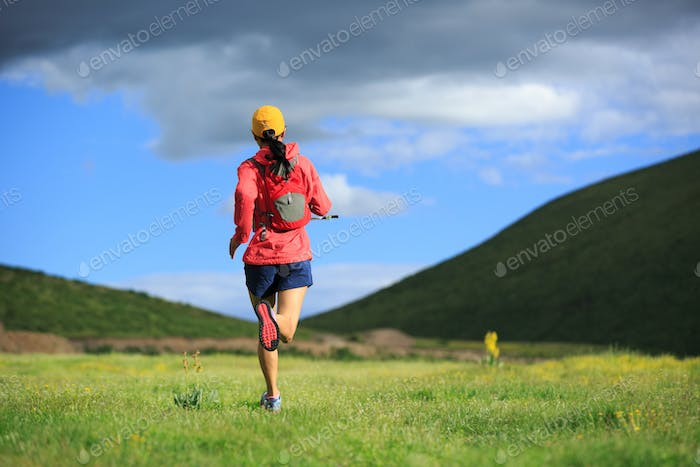 Trail running woman