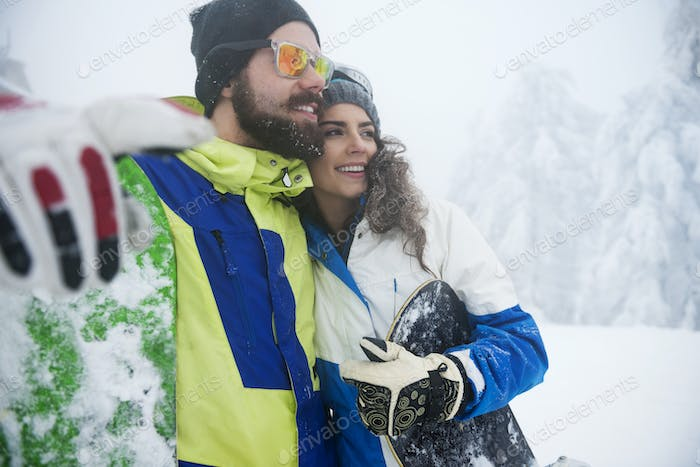 Love for snowboard connecting this couple