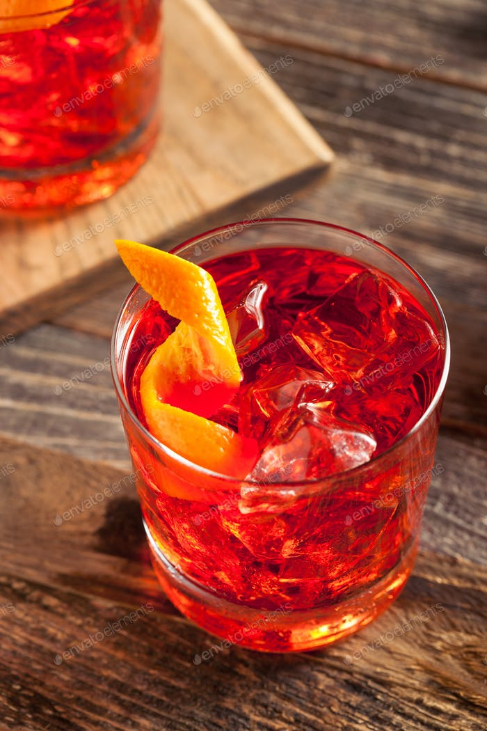 Homemade Boozy Negroni Cocktail