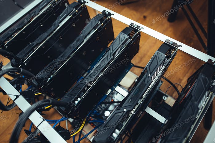 Cryptocurrency mining rig, graphics cards mining bitcoin