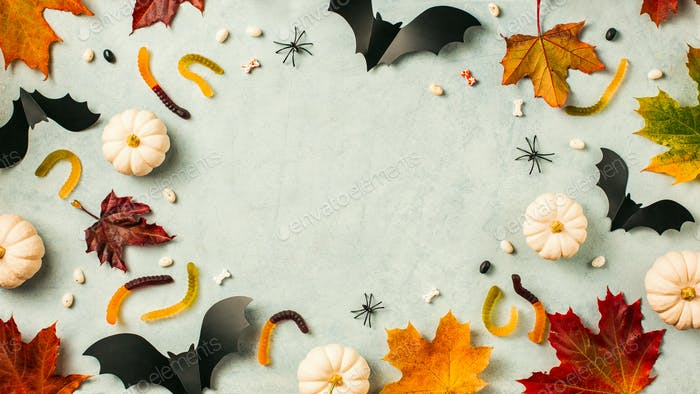 Halloween holiday background with pumpkin