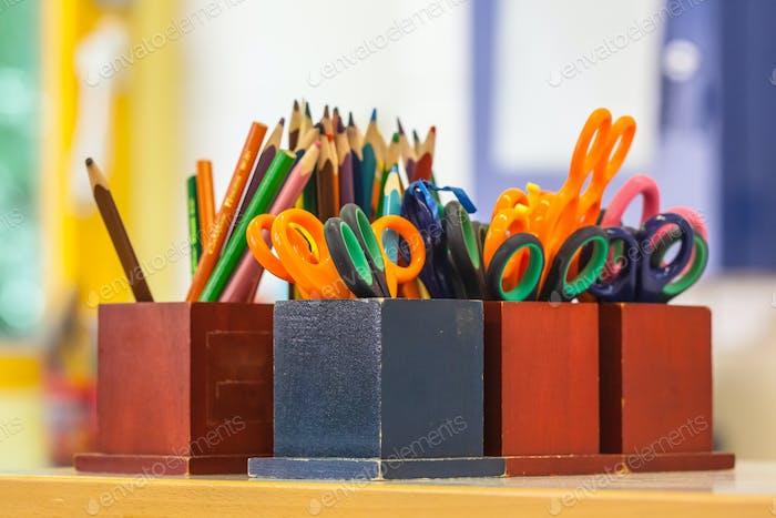 Bildungseinrichtungen in einem Klassenzimmer