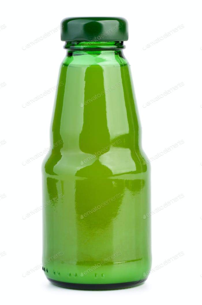 Glass bottle with lime juice