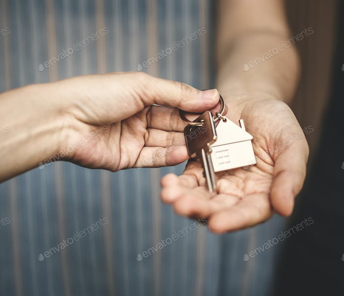 Woman buying a new house
