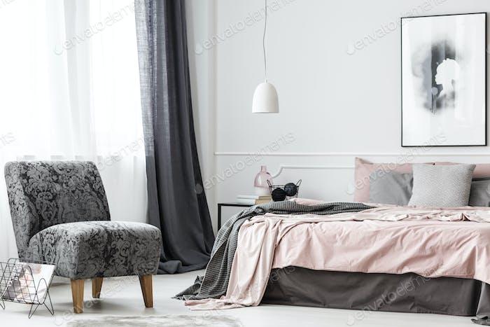 Elegant female bedroom interior