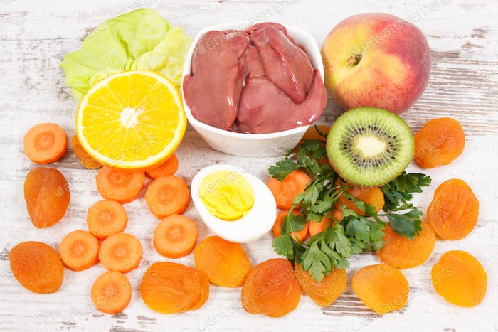 Ingredients as source vitamin A, natural minerals and dietary fiber