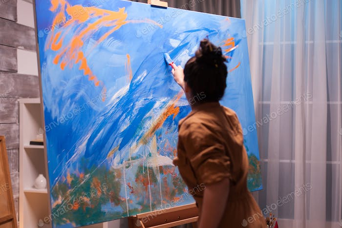 Painting with bright colors