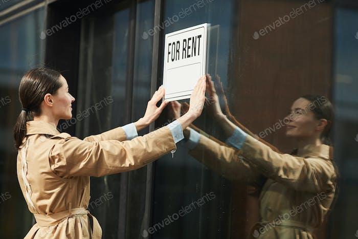 Rental Agent Hanging Sign