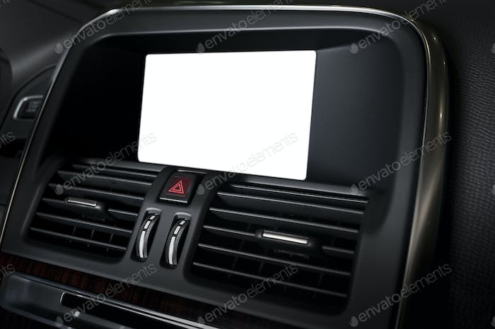 Blank display in car interior