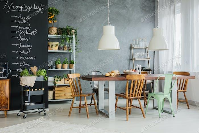 Stylish kitchen table