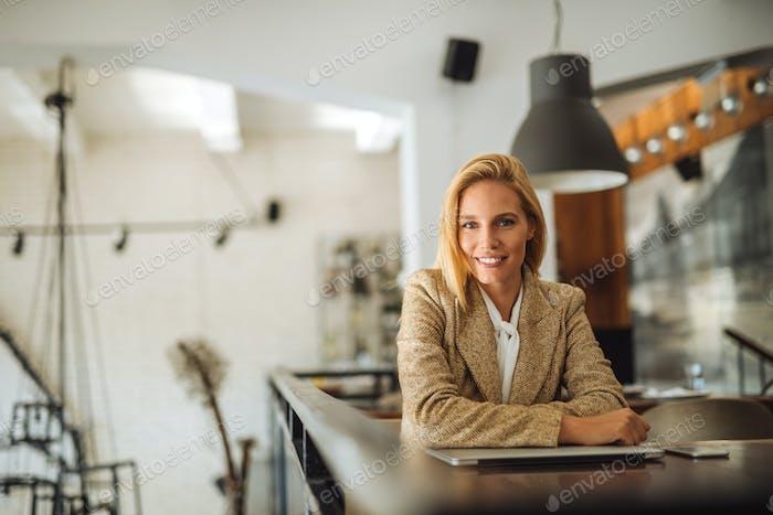 Attractive female entrepreneur