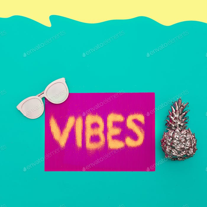 Sea hipster vibes Minimal art design