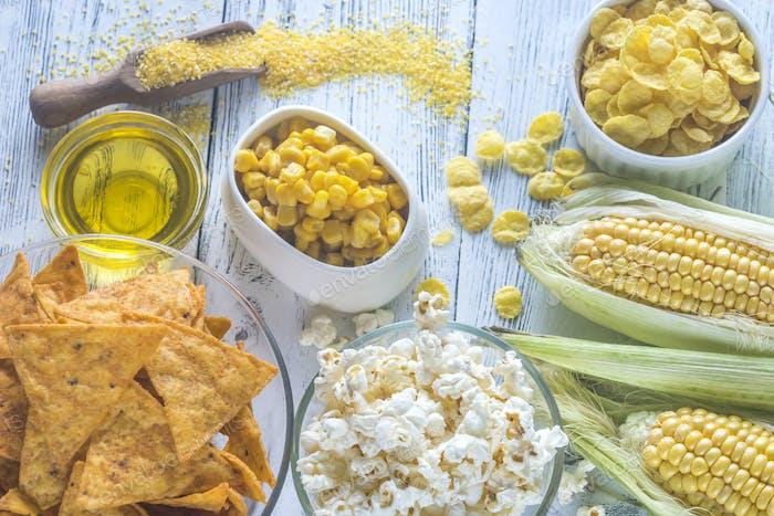 Variation der Maisprodukte