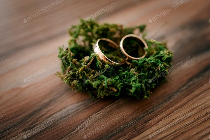 gold wedding rings as an attribute