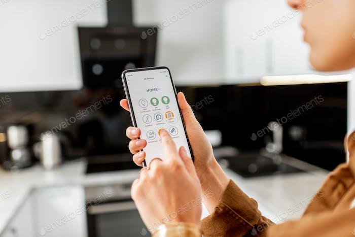 Steuern von Küchengeräten mit einem Smartphone