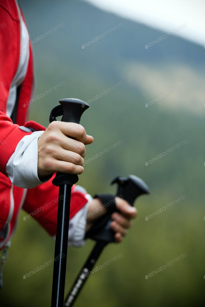 Nordic Walking in mountains
