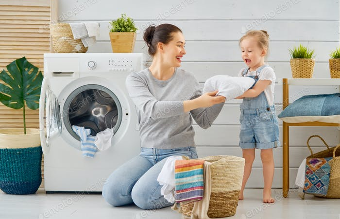 Thumbnail for family doing laundry