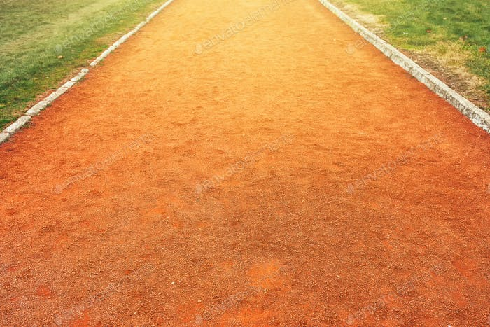 Red clay running track