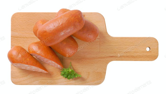 short thick sausages