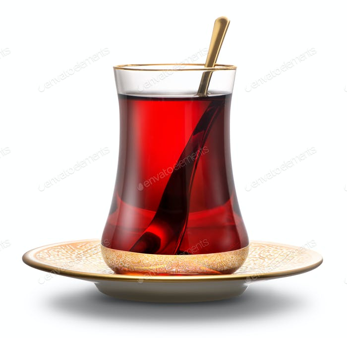 Apple Turkish tea