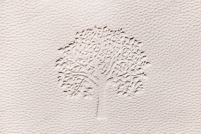 Relief texture with wood on a white background.white embossed faux leather background