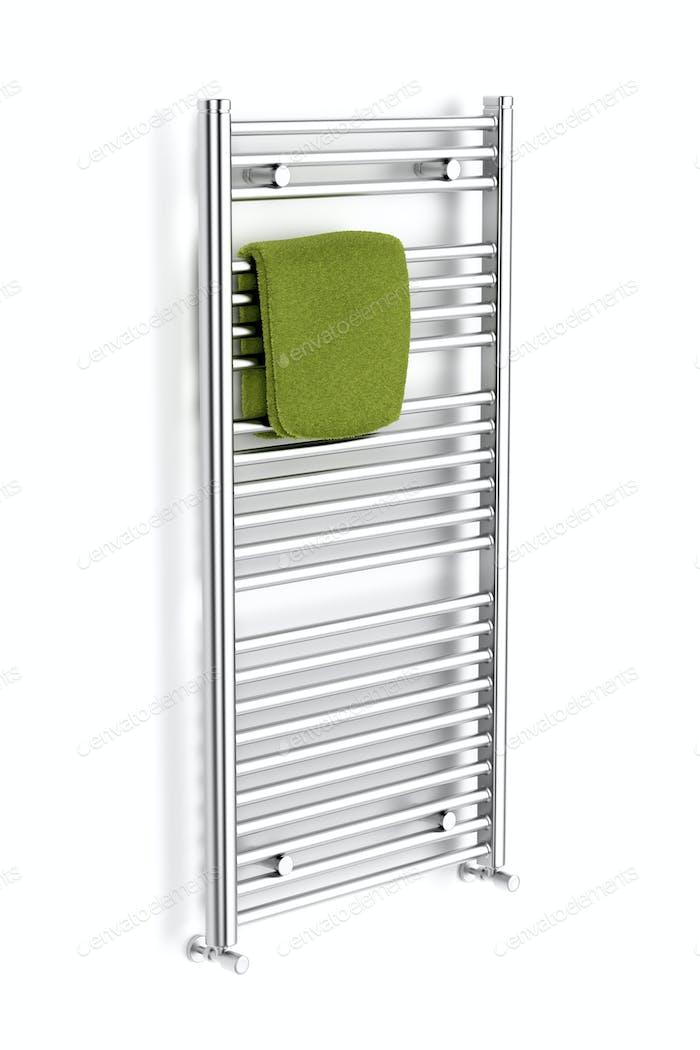 Chrome towel radiator