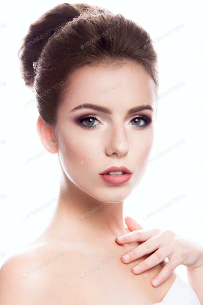 Thumbnail for Beauty fashion model girl with bright makeup
