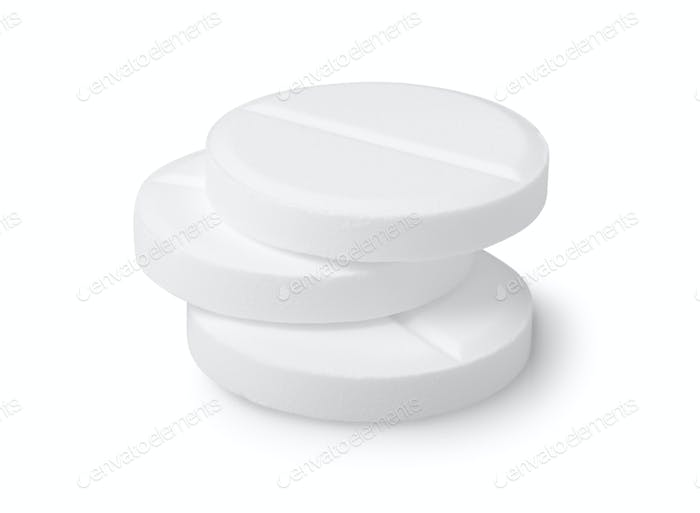 Three tablets