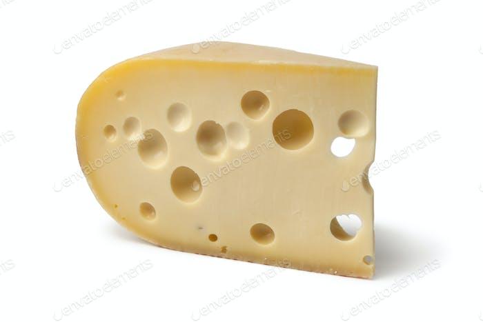 Piece of emmenthaler cheese