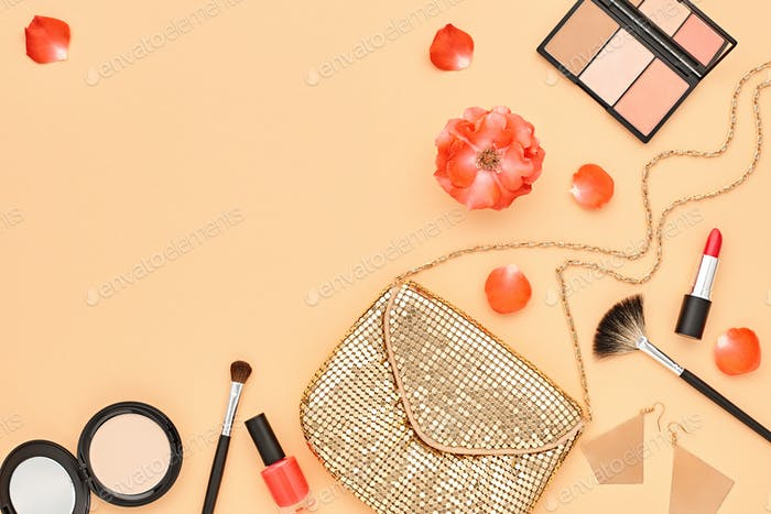 Cosmetic Makeup Accessories. Essentials