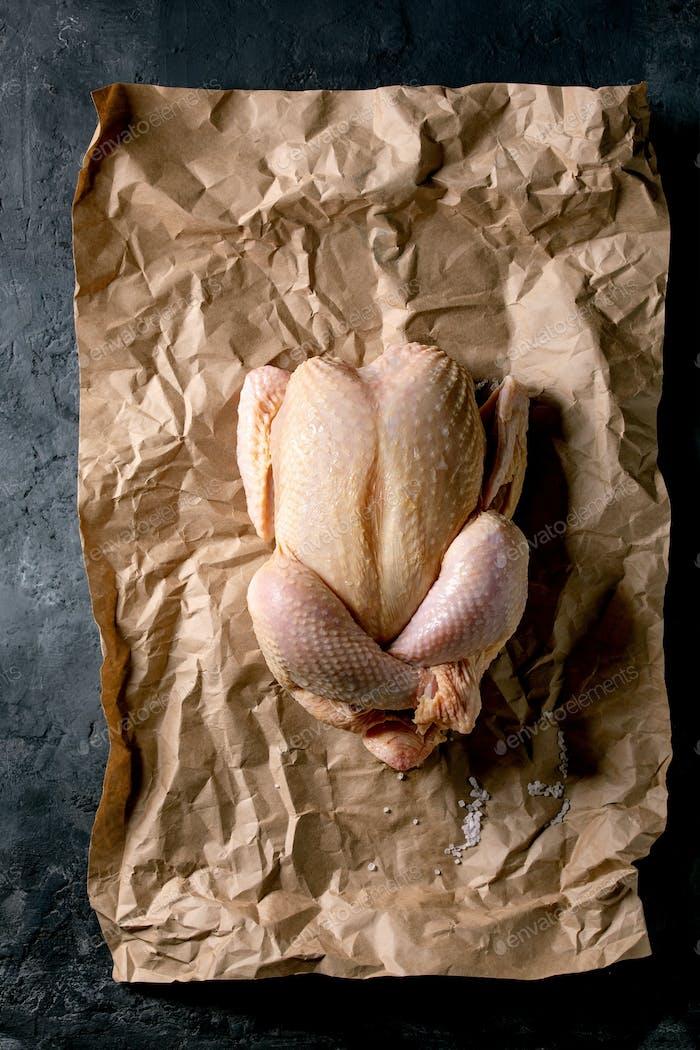Raw farmer chicken