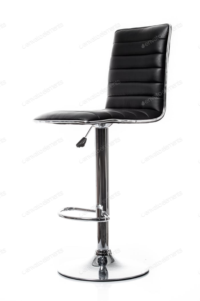 bar chair isolated on white. Single stool