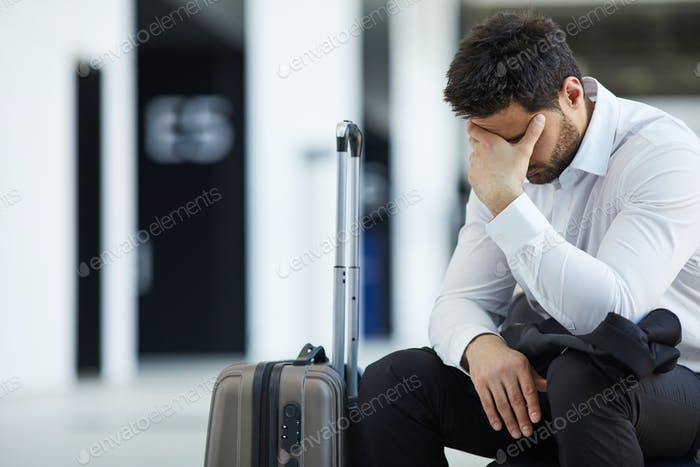 Businessman missing plane